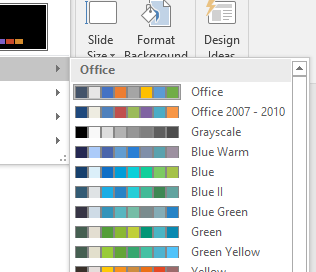Template Color Themes